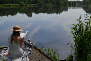 Slow reading lake