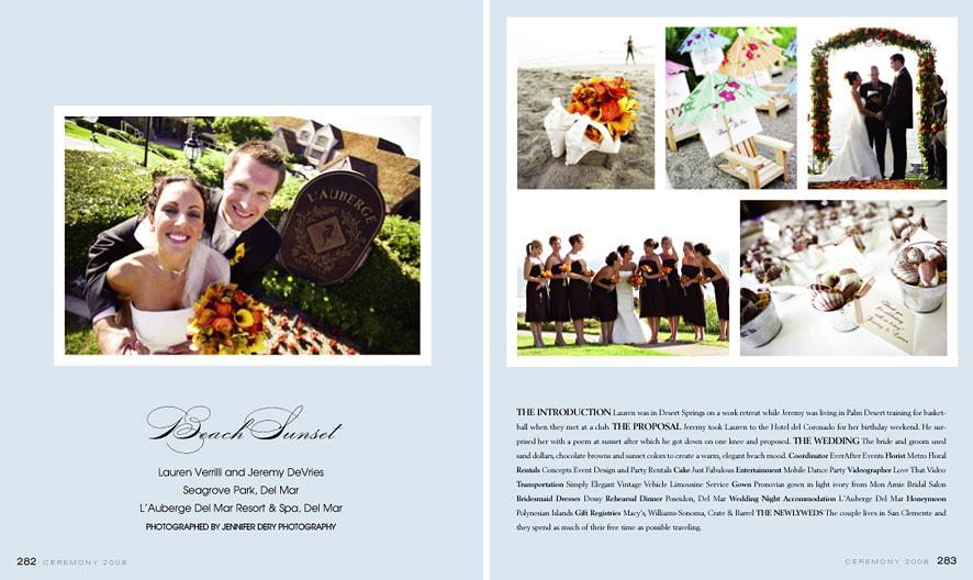 Ceremony Magazine Featured Wedding – Lauren & Jeremy