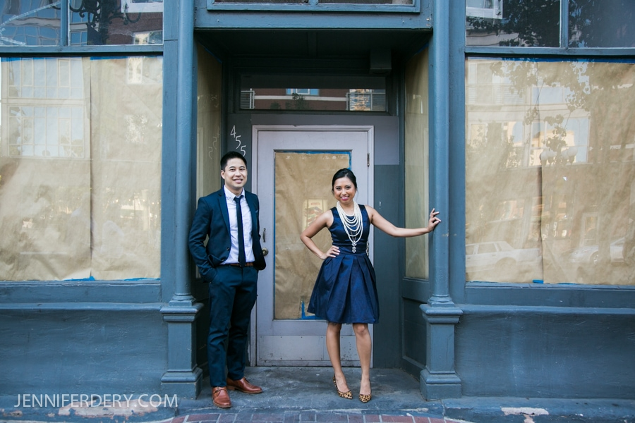 Gaslamp & Balboa Park Engagement Photos