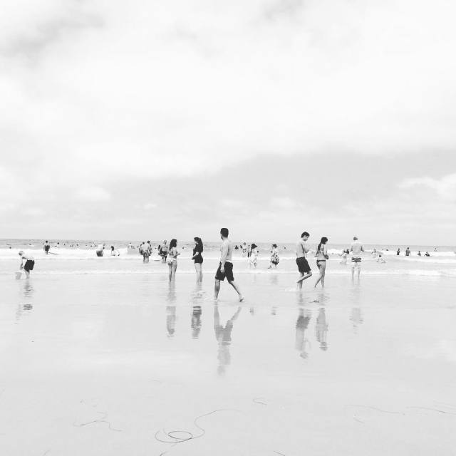 Love how beach scenes can be practically timeless