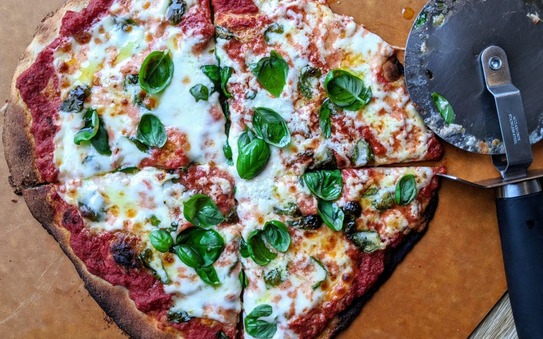 Margherita Pizza with Cassava Flour Crust (Gluten & Grain Free)