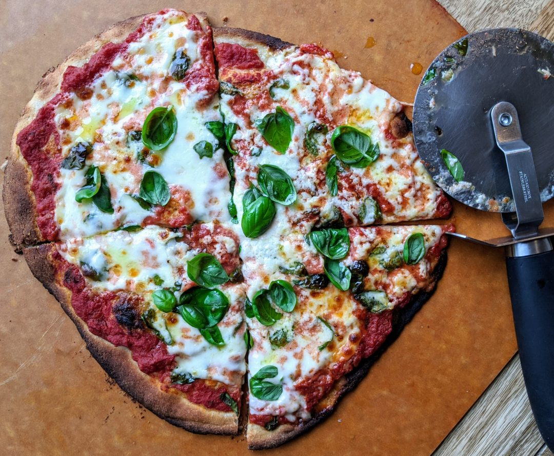 Margherita Pizza with Cassava Flour Crust