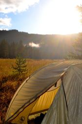 tent in yellowstone