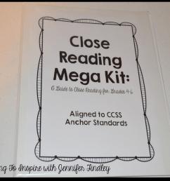 Close Reading Resources {Mega Kit} - Teaching with Jennifer Findley [ 956 x 1227 Pixel ]
