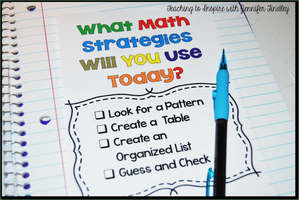 medium resolution of Math Problem Solving Strategies - Teaching with Jennifer Findley