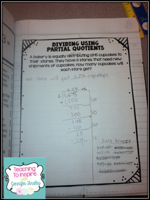 small resolution of Partial Quotients: Easy Breezy Division {Lots of Freebies} - Teaching with  Jennifer Findley