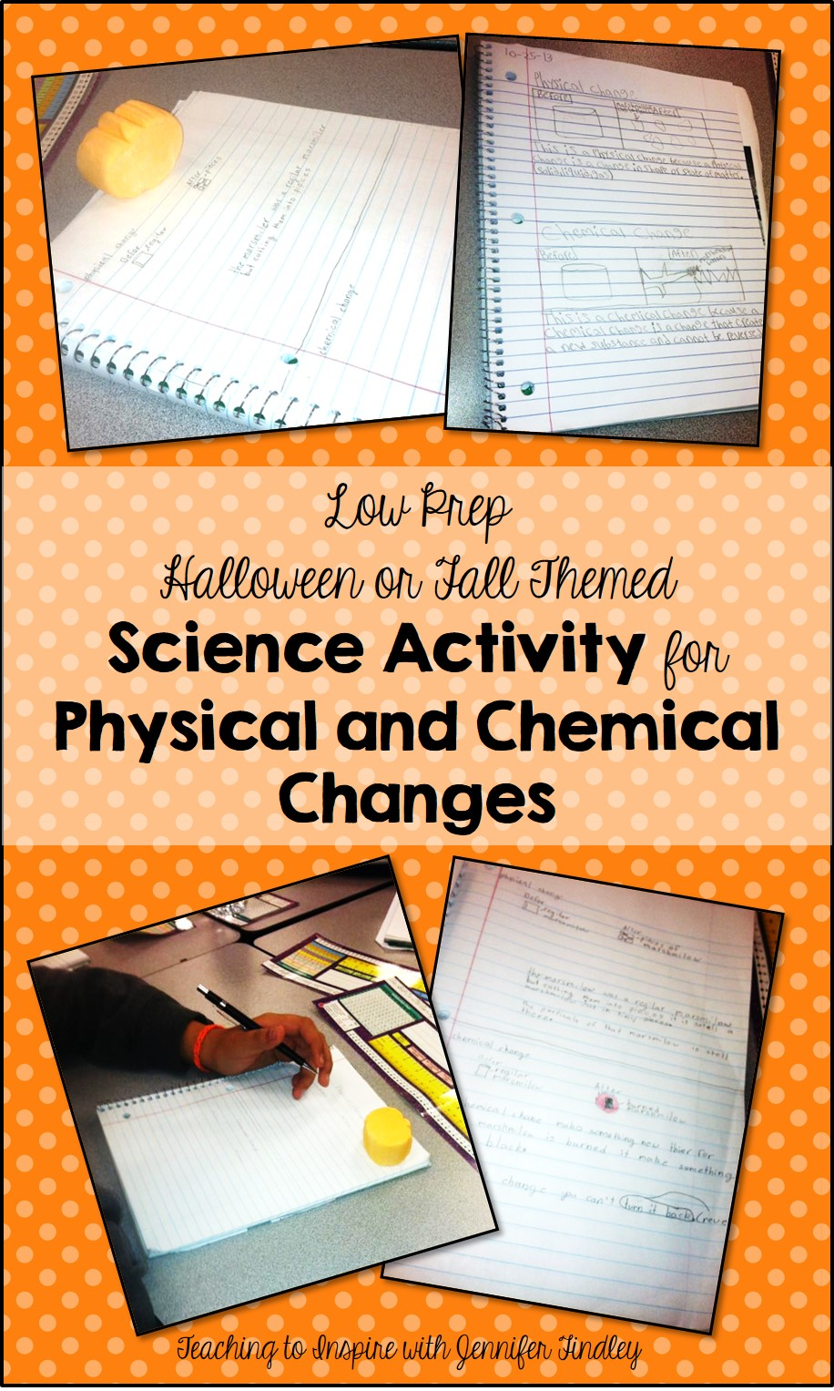 hight resolution of Easy No Prep Physical and Chemical Changes Activity for Fall - Teaching  with Jennifer Findley