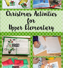 Christmas Activities for Upper Elementary - Teaching with Jennifer Findley [ 1694 x 1127 Pixel ]