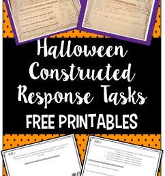 Halloween Math Constructed Response Practice - Teaching with Jennifer  Findley [ 1706 x 1169 Pixel ]