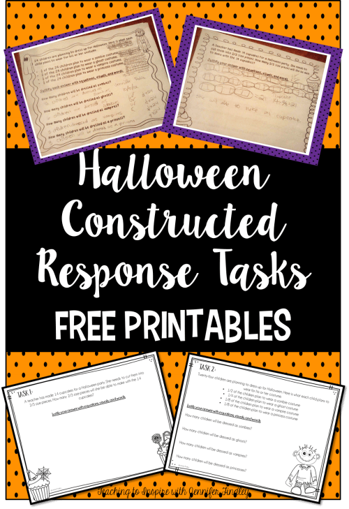 small resolution of Halloween Math Constructed Response Practice - Teaching with Jennifer  Findley