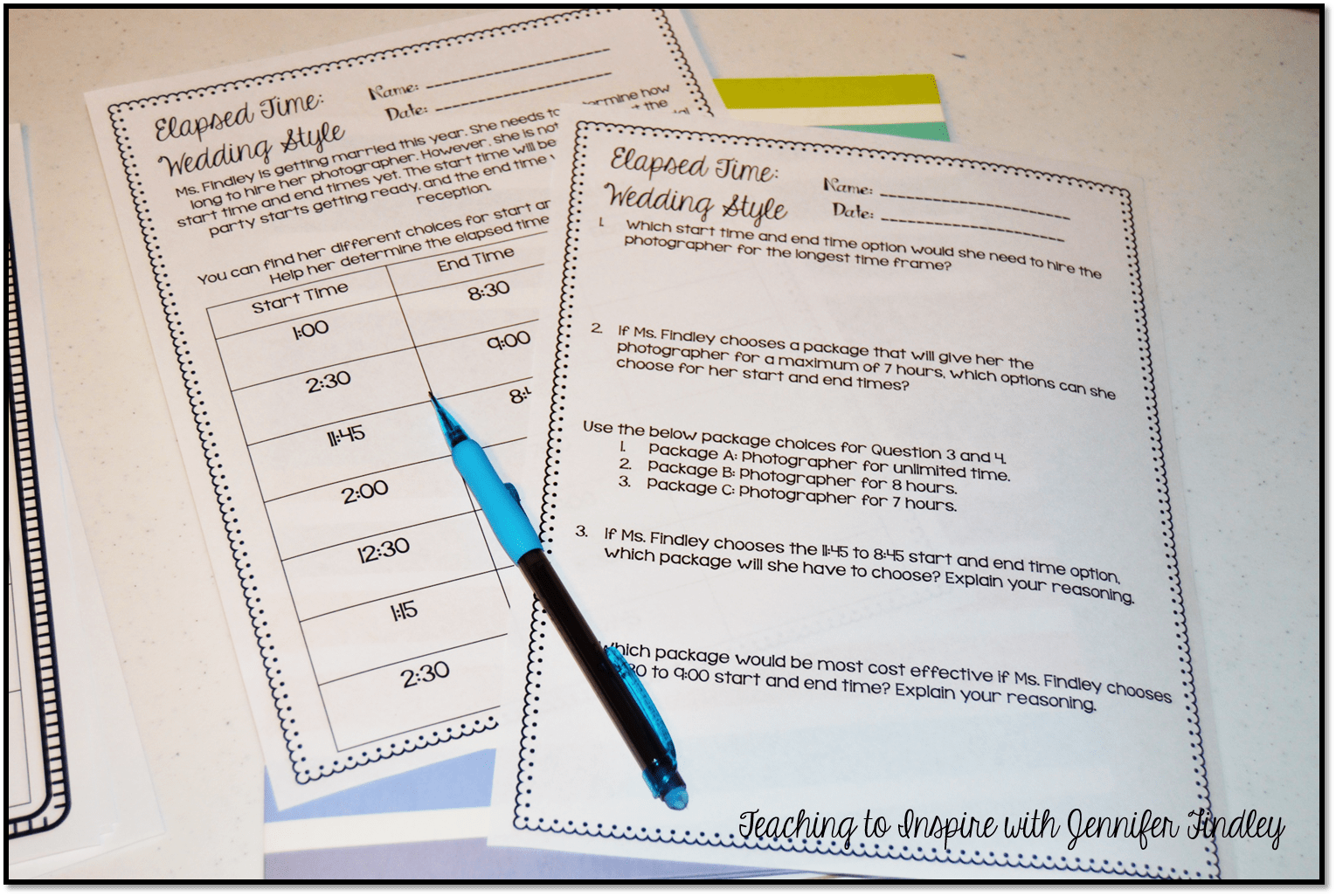 hight resolution of Elapsed Time Freebie - Teaching with Jennifer Findley