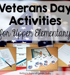 Veterans Day Activities for Upper Elementary - Teaching with Jennifer  Findley [ 1011 x 1403 Pixel ]