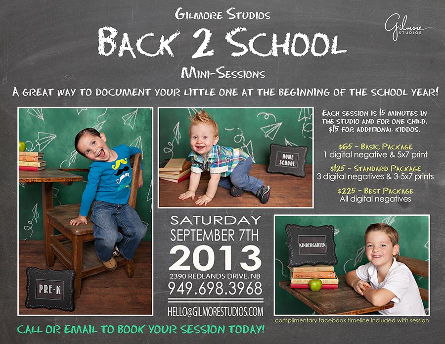Back To School Mini Sessions  Newport Beach CA  Gilmore
