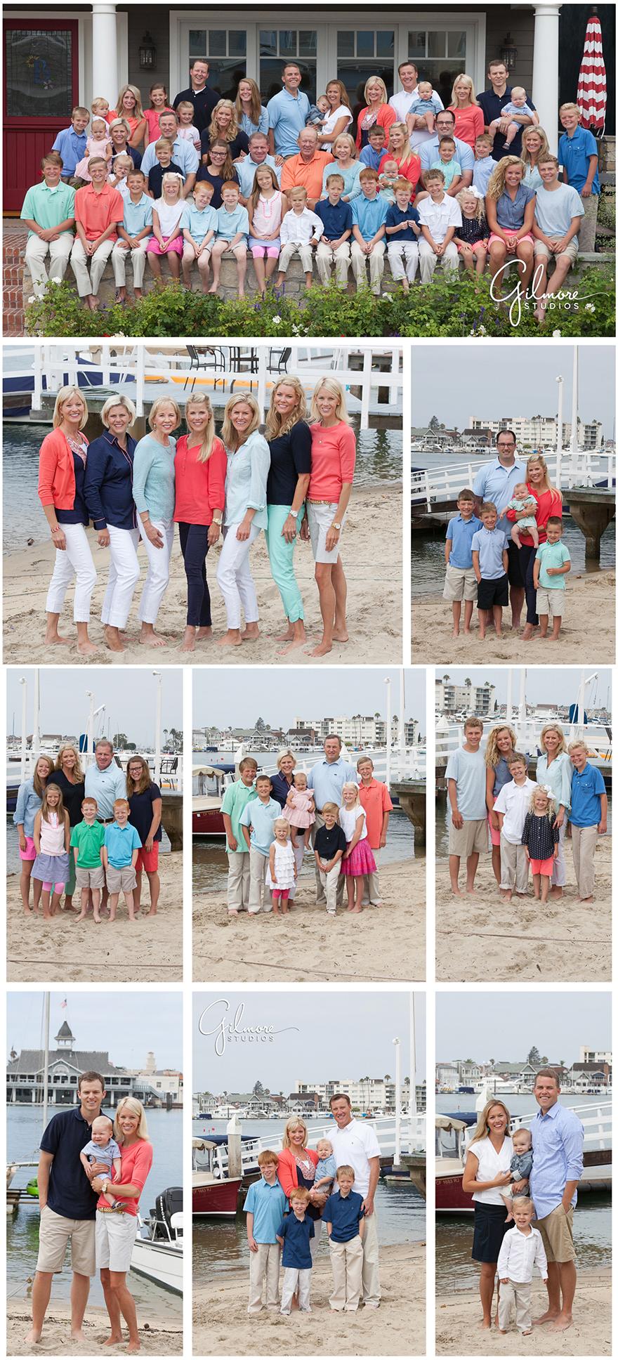 Balboa Island Family Reunion at the beach house  Newport