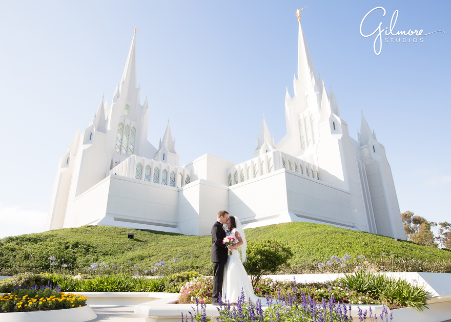 San Diego LDS Temple Wedding  Gilmore Studios Wedding Photographer  Gilmore Studios wedding