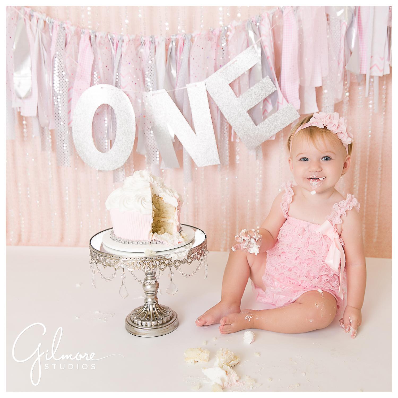 One Year Old Cake Smash Session Orange County Baby