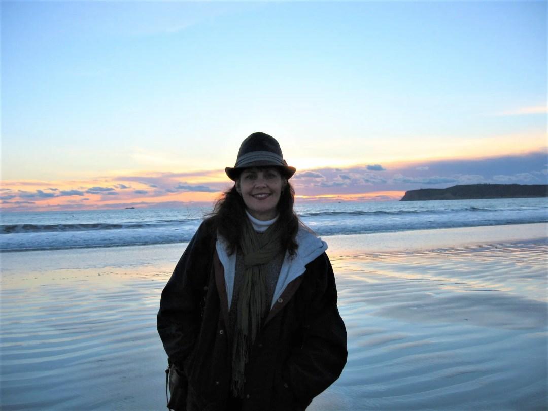 Jenn by beach