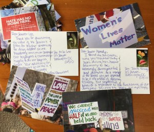 photo of postcards written to Congress