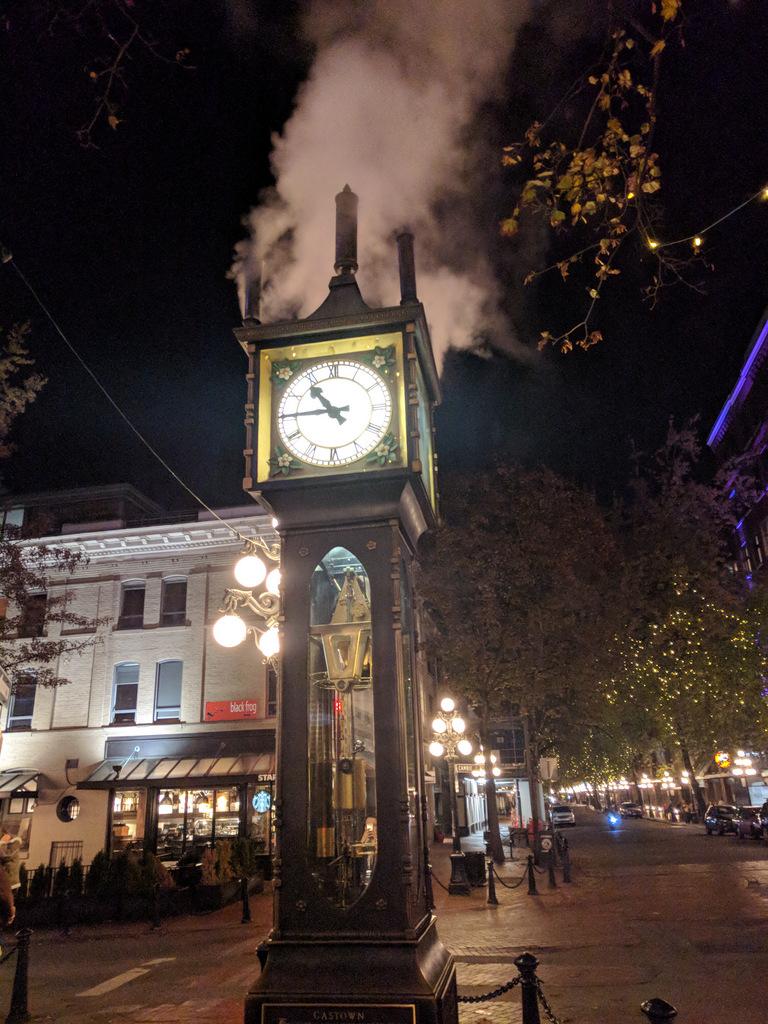 steam clock face