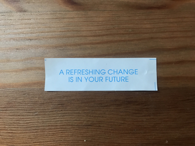 fortune cookie saying