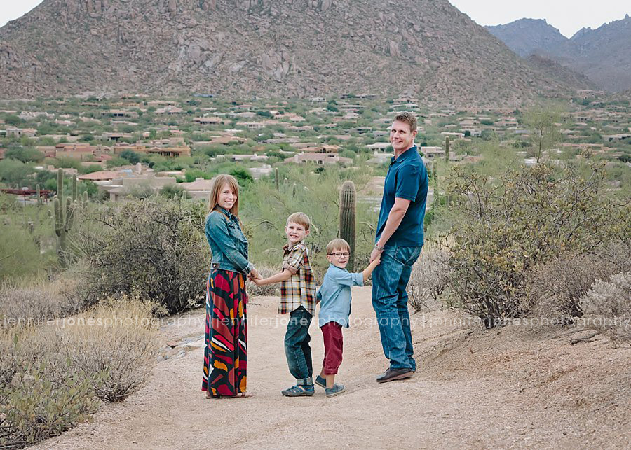 Desert Family Photo Session Arizona Family Photographer