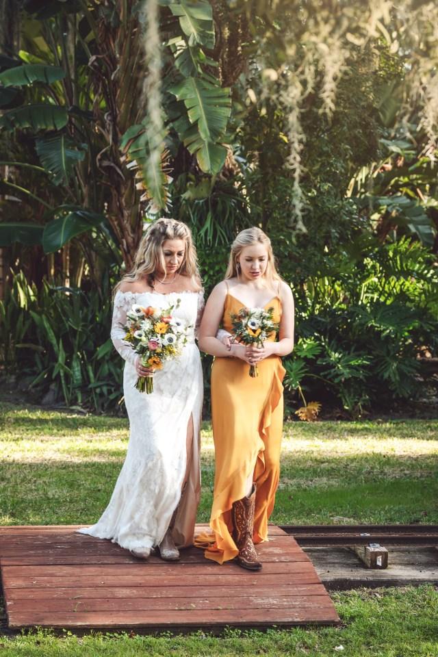 winter oak tree wedding