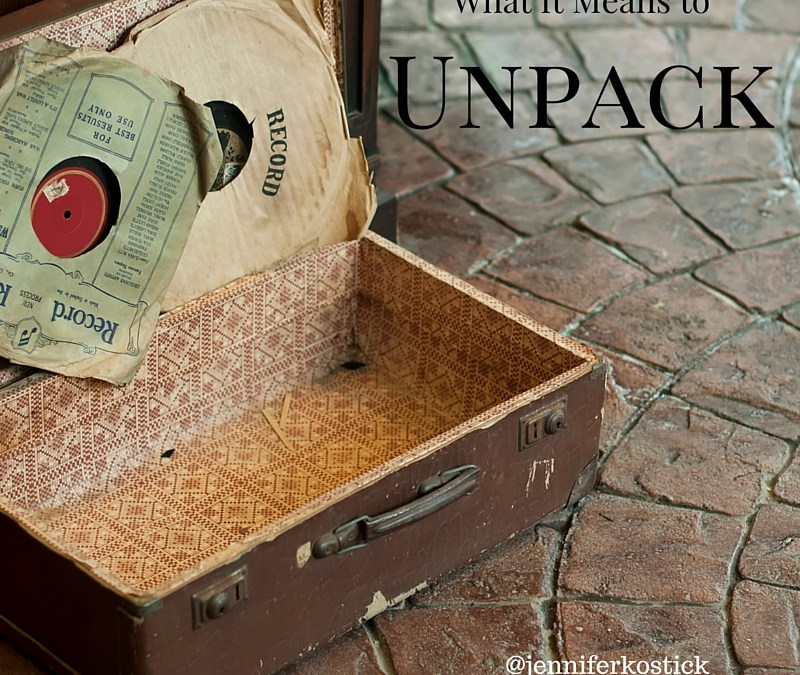 What It Means to Unpack…