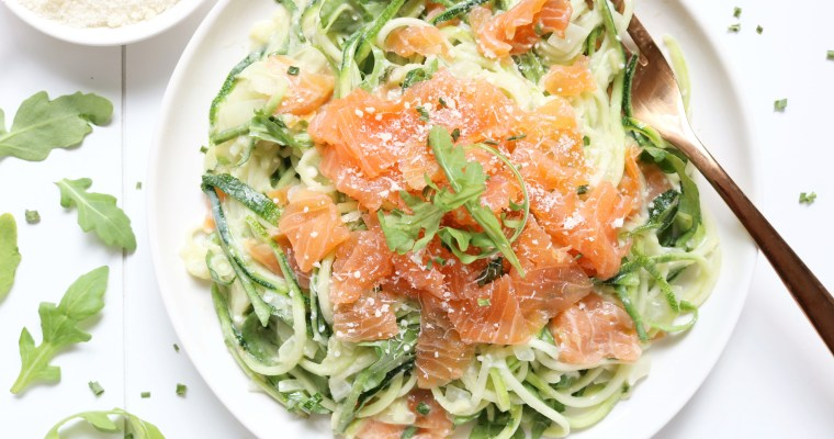 COURGETTI MET GEROOKTE ZALM