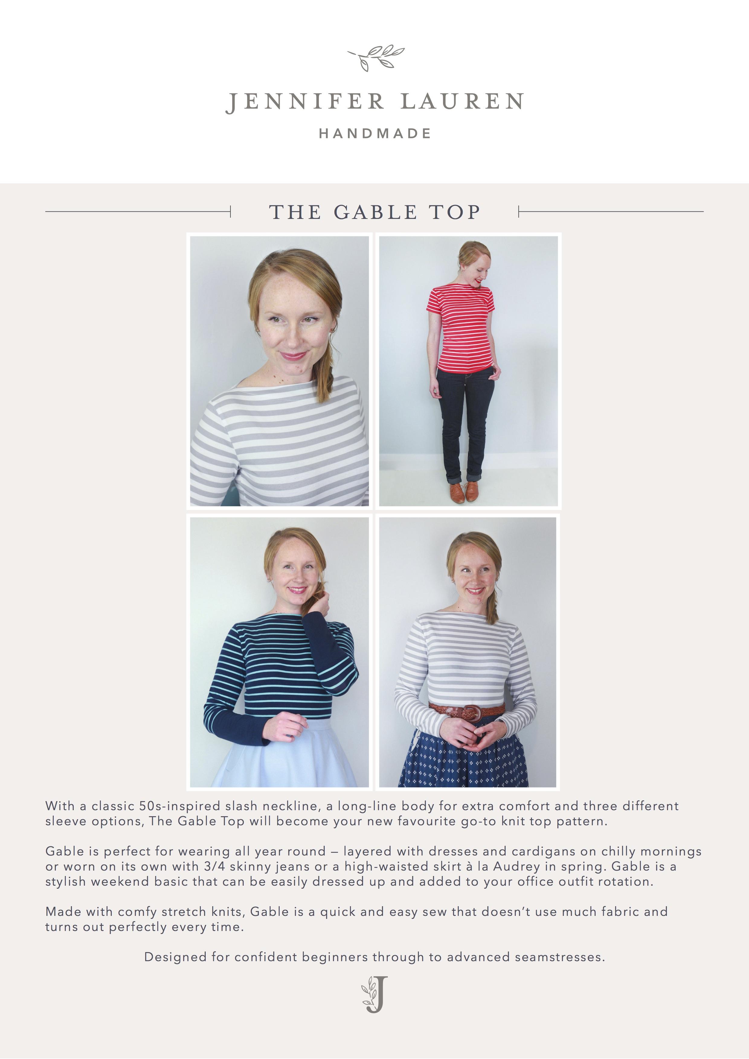 Gable Top : gable, Gable, Jennifer, Lauren, Handmade