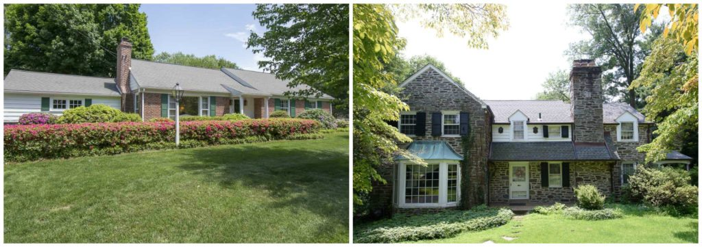 Examples of houses in Haverford, PA