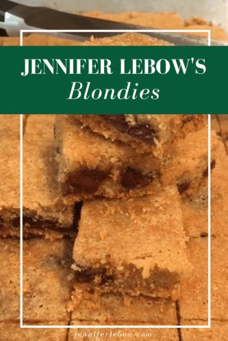 Jennifer LeBow's Blondie Recipe