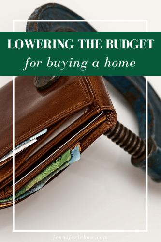 adjusting home buying budget