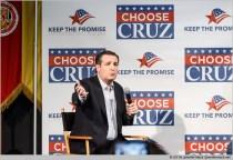 Phoenix, Arizona, USA. 18th March, 2016. Ted Cruz speaks during a rally at Arizona Christian University. Senator Cruz is currently polling second behind Donald Trump in Arizona. © Jennifer Mack/Alamy Live News