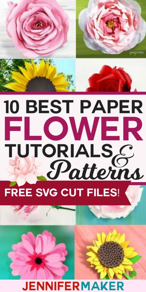 Free Paper Flower Svg : paper, flower, Paper, Flowers:, Tutorials,, Patterns,, Videos, Jennifer, Maker