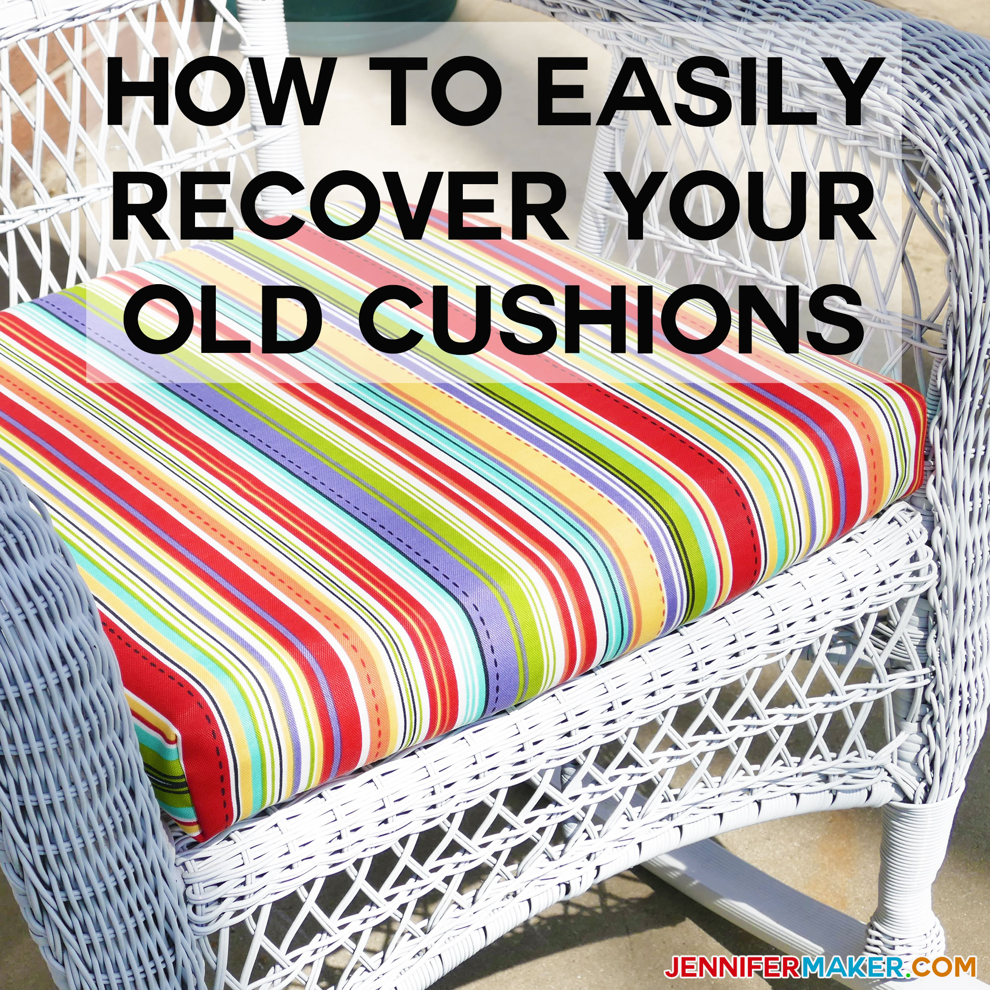diy wicker chair cushions antique rocking with leather seat how to recover your outdoor quick and easy