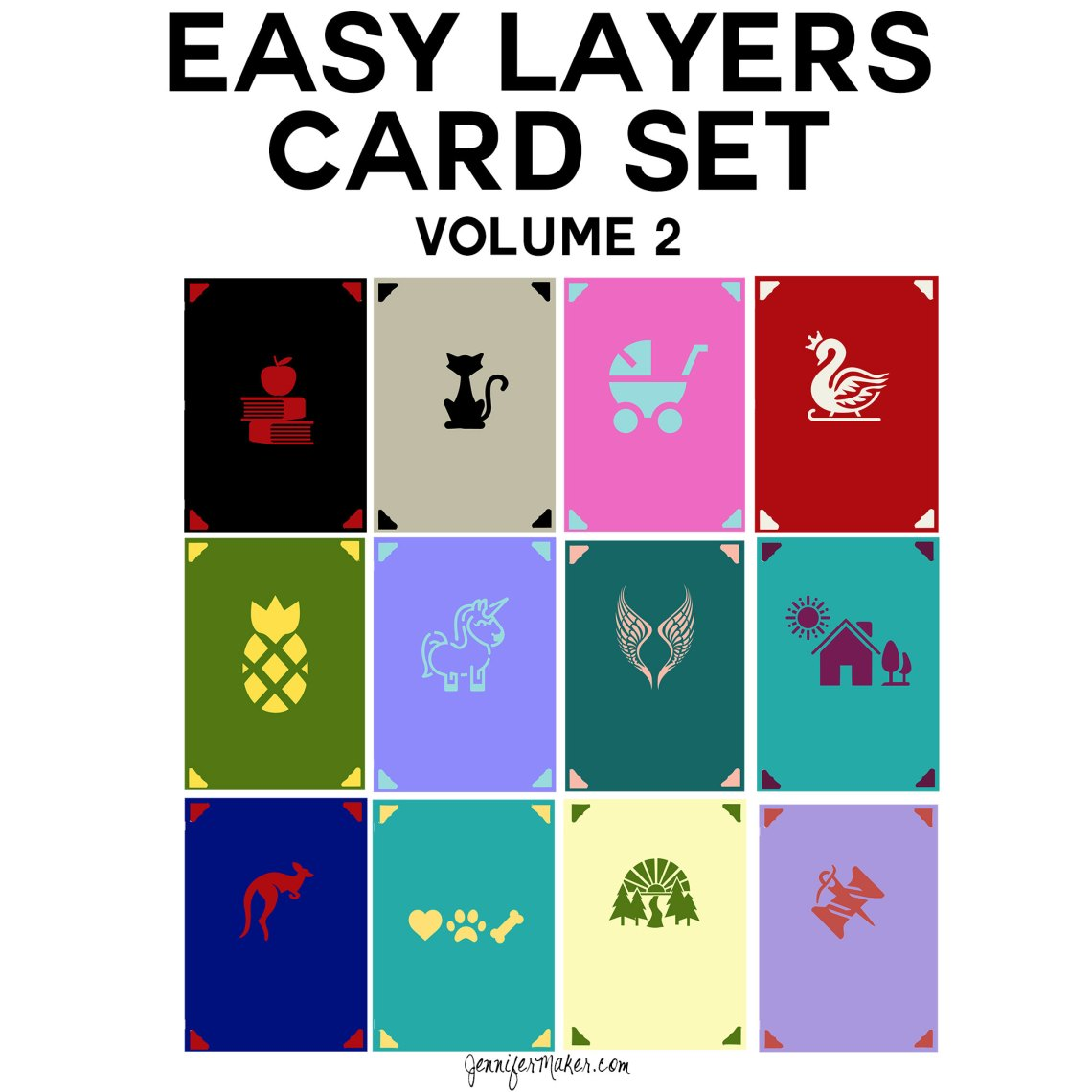Download Easy Layers Greeting Card Set - 12 More Designs ...