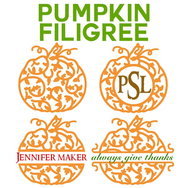 Download Pumpkin Filigree Design for Names and Monograms - Jennifer ...