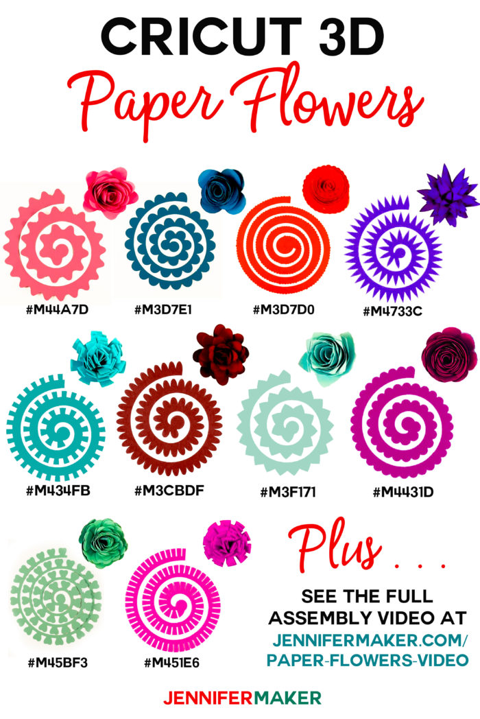 12 Free Rolled Flower SVG Templates - DOMESTIC HEIGHTS