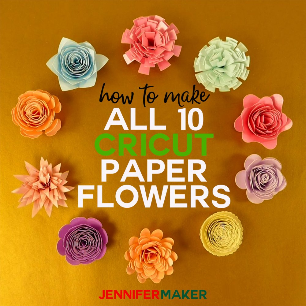 medium resolution of how to make cricut paper flowers from the flower shoppe cartridge complete step
