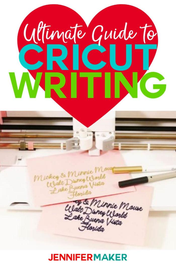Cricut Writing : cricut, writing, Cricut, Writing, Tutorial:, Tricks, Jennifer, Maker