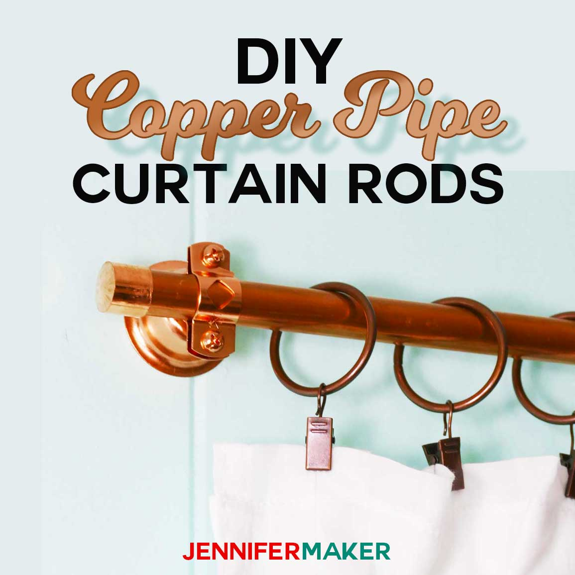 diy copper pipe curtain rods for under