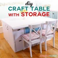 DIY Craft Table with Storage - My IKEA Hack! - Jennifer Maker