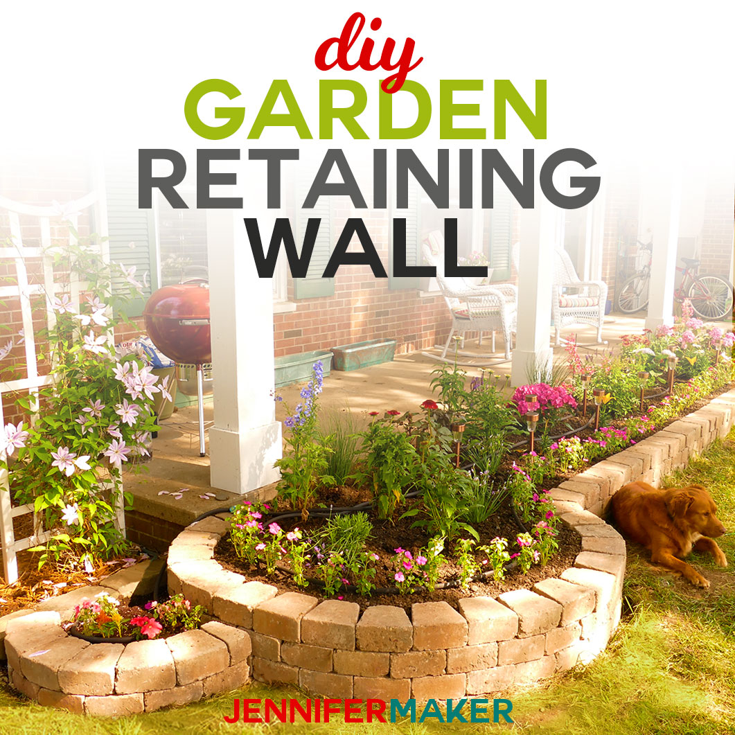 Diy Retaining Wall Construction For A Beautiful Garden Jennifer Maker