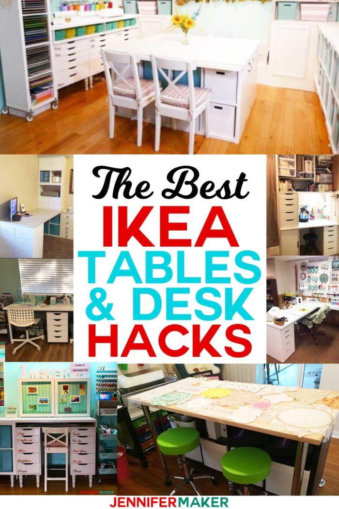 Diy Craft Table Ikea : craft, table, Craft, Tables, Desks, Ideas, Jennifer, Maker