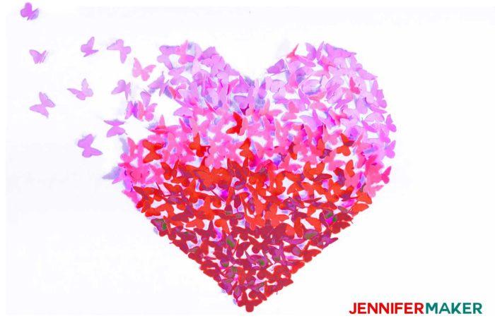 Paper Butterfly Canvas Wall Art Heart On Cricut Jennifer Maker