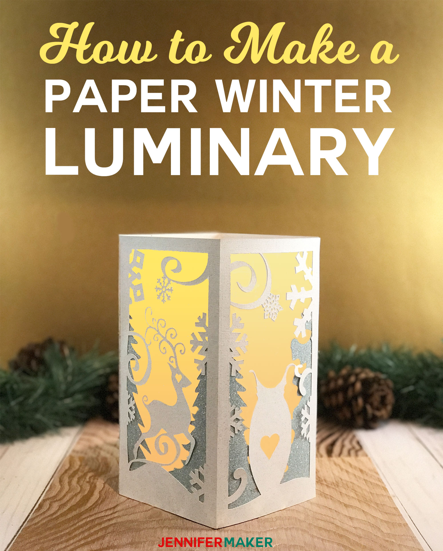 Paper Lantern With Animal Friends To Light Your Winter