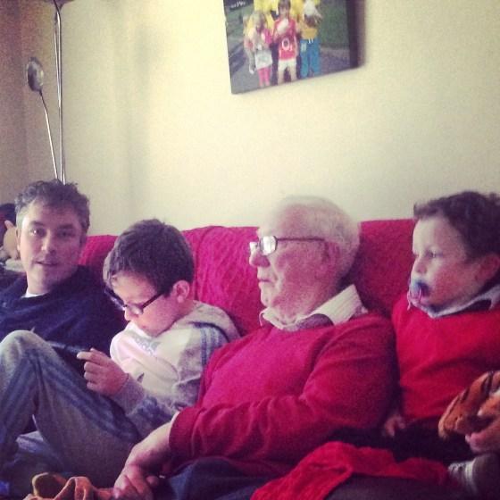 Three generations of Barry boys