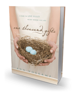 highly recommend One Thousand Gifts by Ann Voskamp
