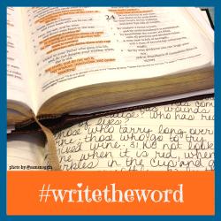 #writetheword