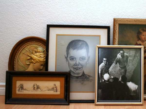 Create Halloween Wall With Thrift Store Art